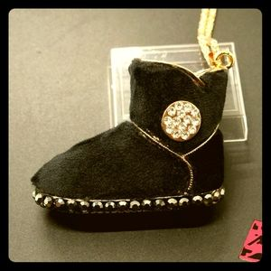 👢Black Fur Crystal Ugg Boot👢